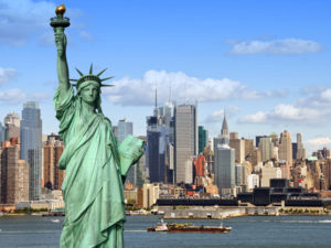 نیویورک مجسمه ازادی و بیت کوین